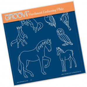 Groovi Plate A5 COUNTRY ANIMALS GRO-AN-40615-03