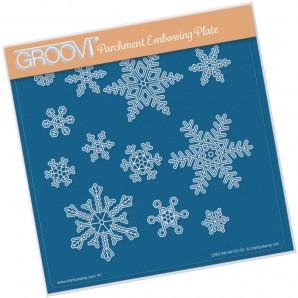 Groovi Plate SMALL SNOWFLAKES