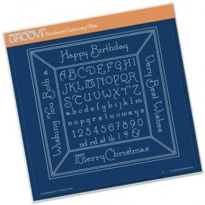 Groovi Plate XL Alphabet Picture Frame