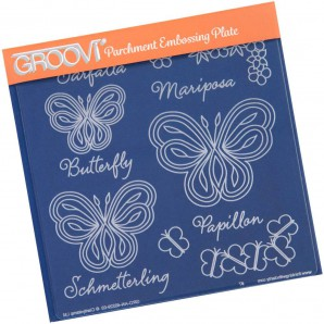 Groovi Plate Butterflies and Words