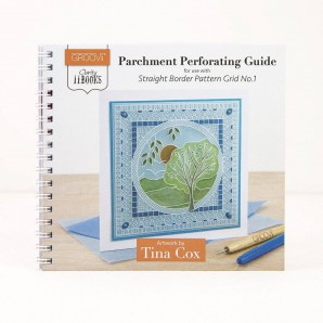 Groovi Clarity II Book: perforating guide STRAIGHT Border patern