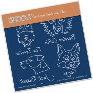 Groovi Plate A6 Dog Breeds