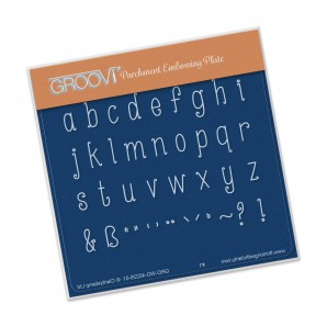 Groovi Plate A6 Hand Drawn Alphabet Lower Case