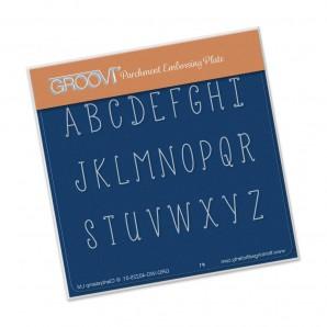 Groovi Plate A6 Hand Drawn Alphabet Upper Case