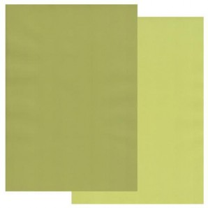 Groovi Parchment Paper A4 Two Tone Apple Green-Pear Green