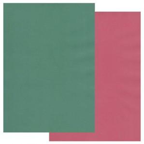 Groovi Parchment Paper A4 Two Tone Bottle Green Cranberry Crush