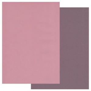 Groovi Parchment Paper A4 Two Tone Dusky Pink-Rich Plum