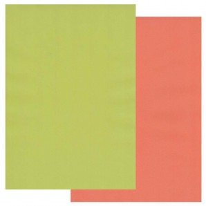 Groovi Parchment Paper A4 Two Tone Lime Twist-Orange Squash