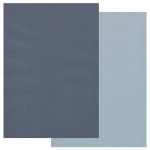 Groovi Parchment Paper A4 Two Tone Midnight Blue-Sky Blue