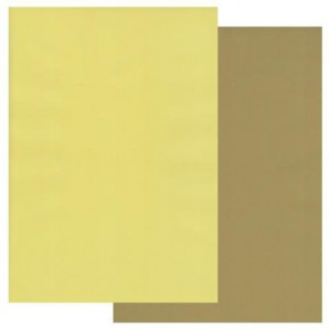 Groovi Parchment Paper A4 Two Tone Olive Green-Primrose Yellow