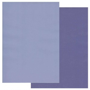 Groovi Parchment Paper A4 Two Tone Periwinkle Blue-Very Violet