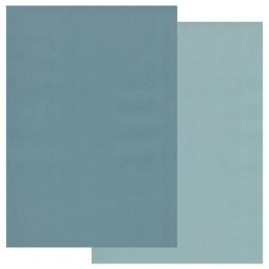 Groovi Parchment Paper A4 Two Tone Petrol Blue-Smokey Blue