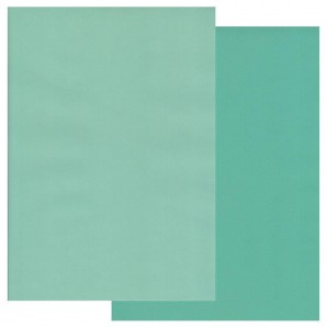 Groovi Parchment Paper A4 Two Tone Turquoise-Light Turquoise