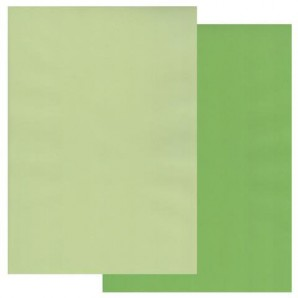 Groovi Parchment Paper A4 Two Tone Willow Green-Meadow Green