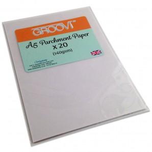 Groovi Perkament papier A5 Basic 20 vel