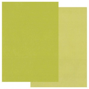 Groovi Parchment Paper A5 Two Tone Green