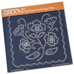 Groovi Plate Lace Flowers