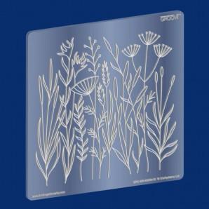 Groovi Plate Meadow Grasses