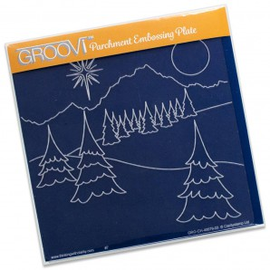 Groovi Plate Winter Landscape