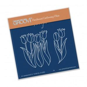 Groovi Plate A6 Tulips