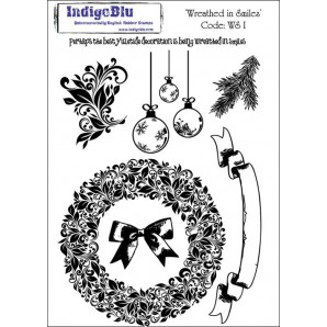 IndigoBlu Stamp Wreathed in Smiles A5