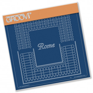 Groovi Plate A5 ITALIAN CITIES DIAGONAL LACE GRID DUETS - ROME 41583