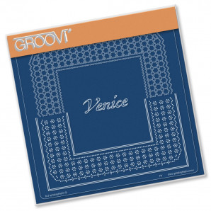 Groovi Plate A5 ITALIAN CITIES DIAGONAL LACE GRID DUETS - VENICE 41586