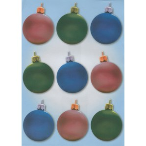 Vellum kerstballen 3 kleuren 62525