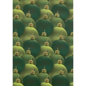 Vellum kerstballen groen 62524