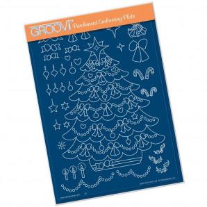 LINDA WILLIAMS' LAYERED CHRISTMAS TREE A5 GROOVI PLATE 41671