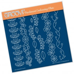 LUCY'S FOLKART GARLANDS A5 SQUARE GROOVI PLATE 41426