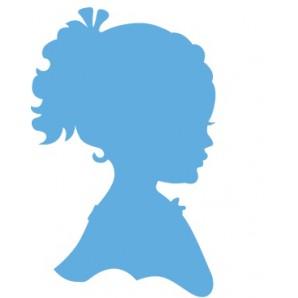 Marianne Creatable Silhouette girl ponytail LR0349