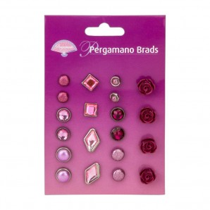 Pergamano Brads Assorted Red Roses  20st