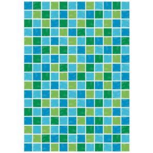 Vellum mozaïk groen blauw 62542