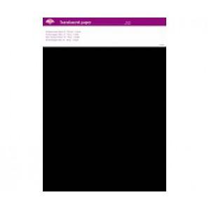 Perkamentpapier translucent zwart 100 grams 64001