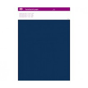 Perkamentpapier translucent navy 63017