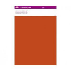 Perkamentpapier translucent oranje 63008