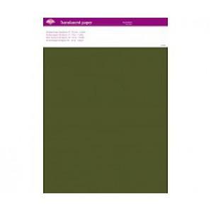 Perkamentpapier translucent mosgroen 63005