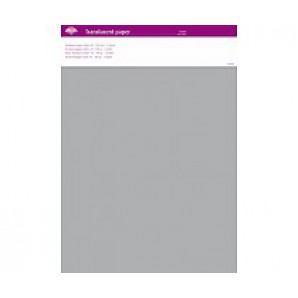 Perkamentpapier translucent zilver 100 grams 64002