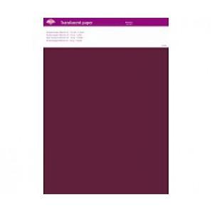 Perkamentpapier translucent wijnrood 63011