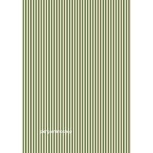 Perkamentpapier strepen olijfgroen 61614