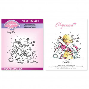 CLEAR STAMP A6  CHRISTMAS POPPETS - PALOMA