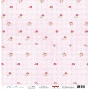 Scrapbookpapier enkelzijdig, Rose Petal
