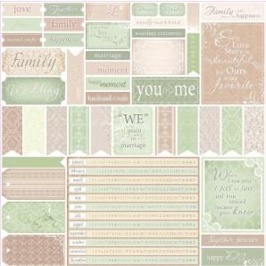 Scrapbookpapier enkelzijdig, Wedding Cards 1