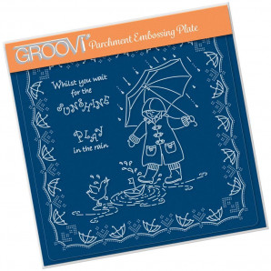 Groovi Plate A5 LINDA'S CHILDREN - SPRING - PLAY IN THE RAIN