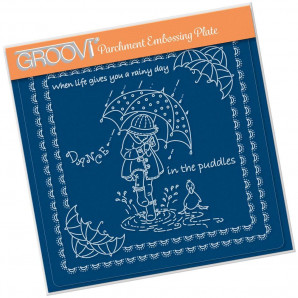 Groovi Plate A5  LINDA'S CHILDREN - SPRING - DANCE IN THE PUDDLES
