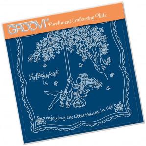 Groovi Plate A5 LINDA'S CHILDREN - SUMMER - GIRL ON A SWING
