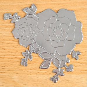 TODO Hot Foil Press Rose Blossom (17856)