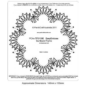 PCA EasyEmbossing Template Sunburst frame TP3119E