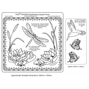 PCA EasyEmbossing Template Garden Pond TP3335E